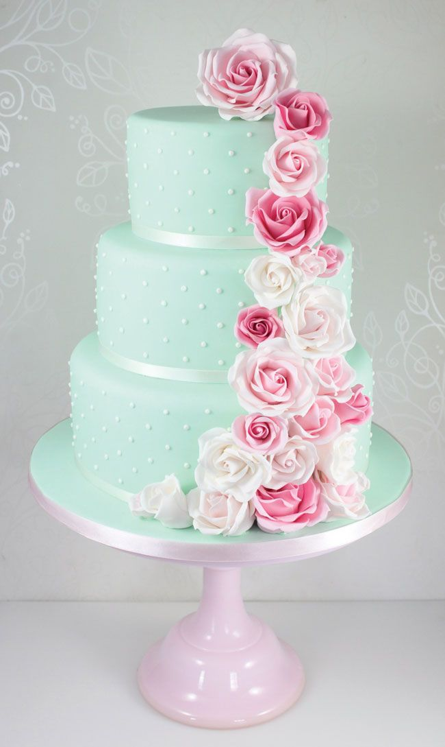 Wedding Cakes In Pink