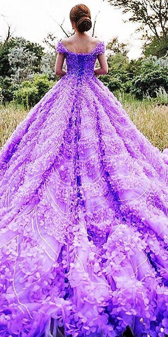 brides dresses in purple