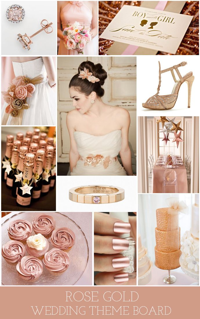 Rose Gold Themed Wedding