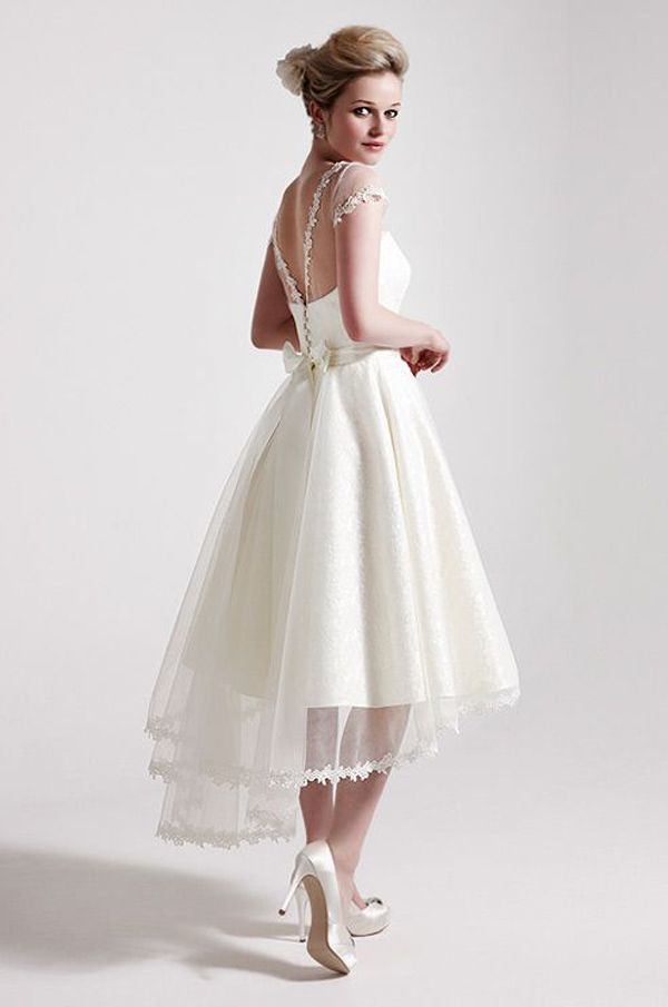 cheap short white wedding dresses