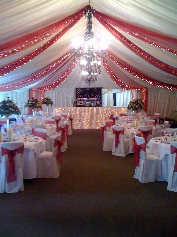 Tulle And Lights Wedding Decor