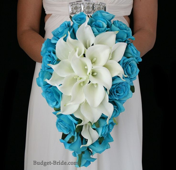 Turquoise Flowers For Wedding: Turquoise And White Wedding Flowers