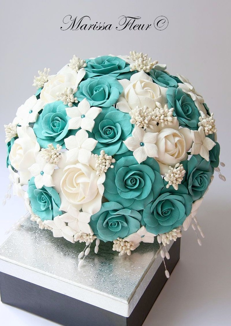 aqua wedding flowers turquoise and white flowers images 1355