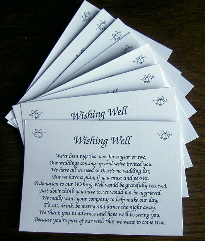 Poems For Money Instead Of Wedding Gifts