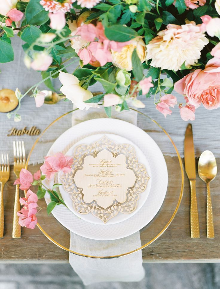 Elegant Table Setting For Wedding With Table Setting For Wedding