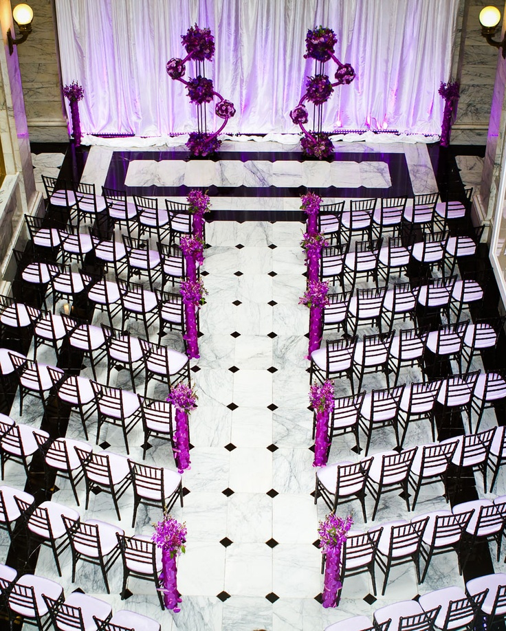 Purple Ideas For Weddings: Purple And White Decoration For Wedding