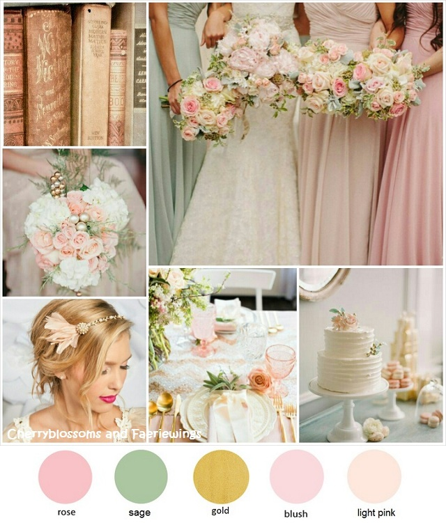 Rose Gold Wedding Colors