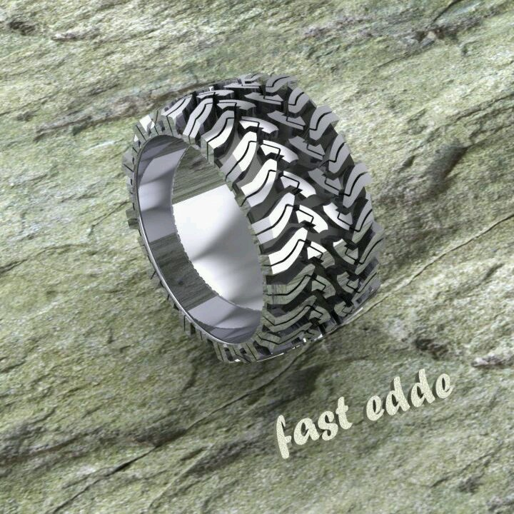 Mud Tire Wedding Rings
