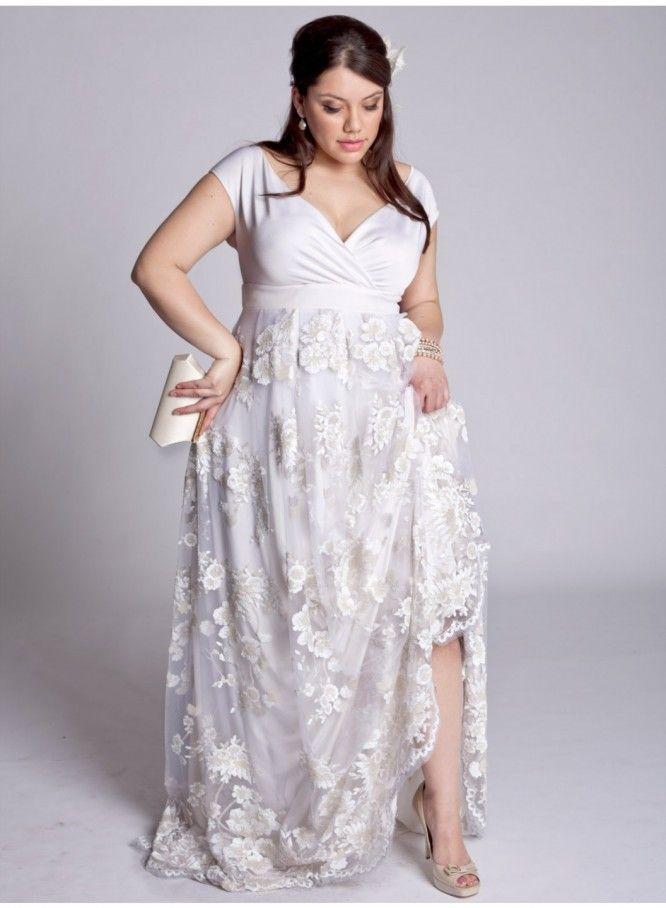 Bohemian Wedding Dress Plus Size