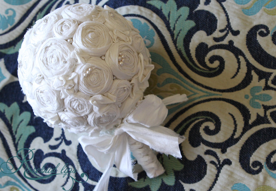 1000 Images About Fabric Flowers Wedding Bouquet On Emasscraft Org ...