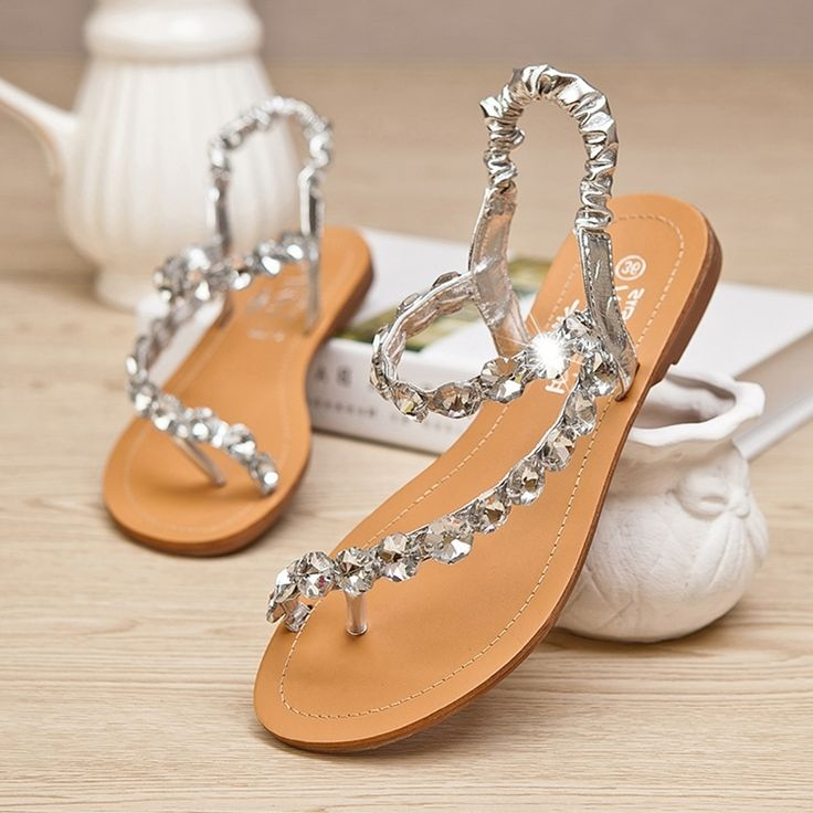 Wedding flat sandals junglespirit