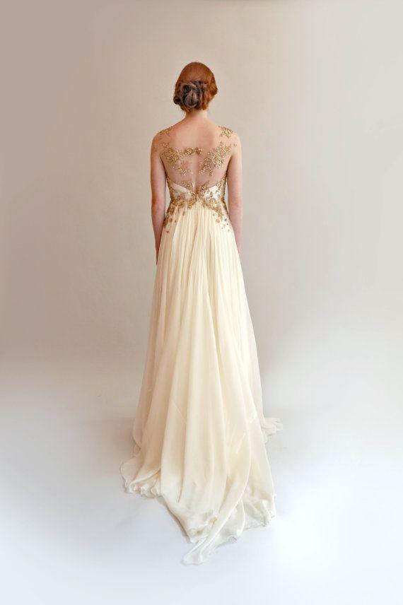 Gold Detail Wedding Dress