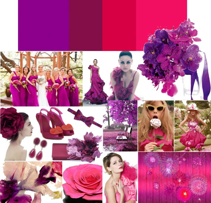 1000 Images About Hot Pink Deep Purple Wedding Colours On Emcraft Org