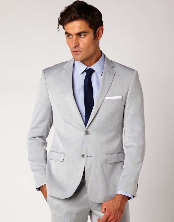 Light Grey Suit Wedding
