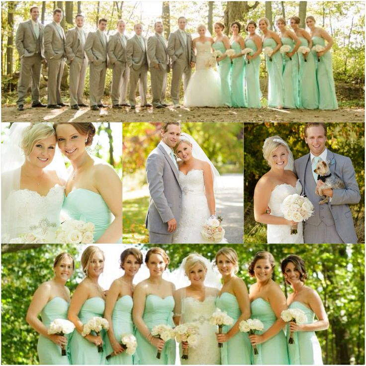 Mint Wedding Ideas: Mint Green Grey Wedding