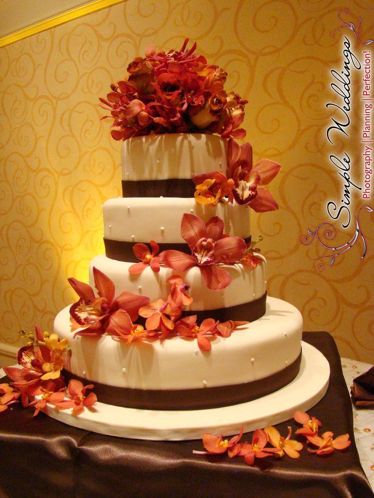 Navy Blue And Burnt Orange Wedding Cakes - Best Wedding Cake 2018
