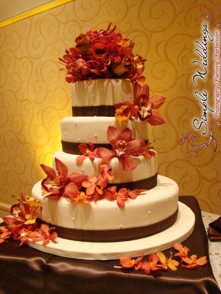 Burnt Orange Flowers Wedding
