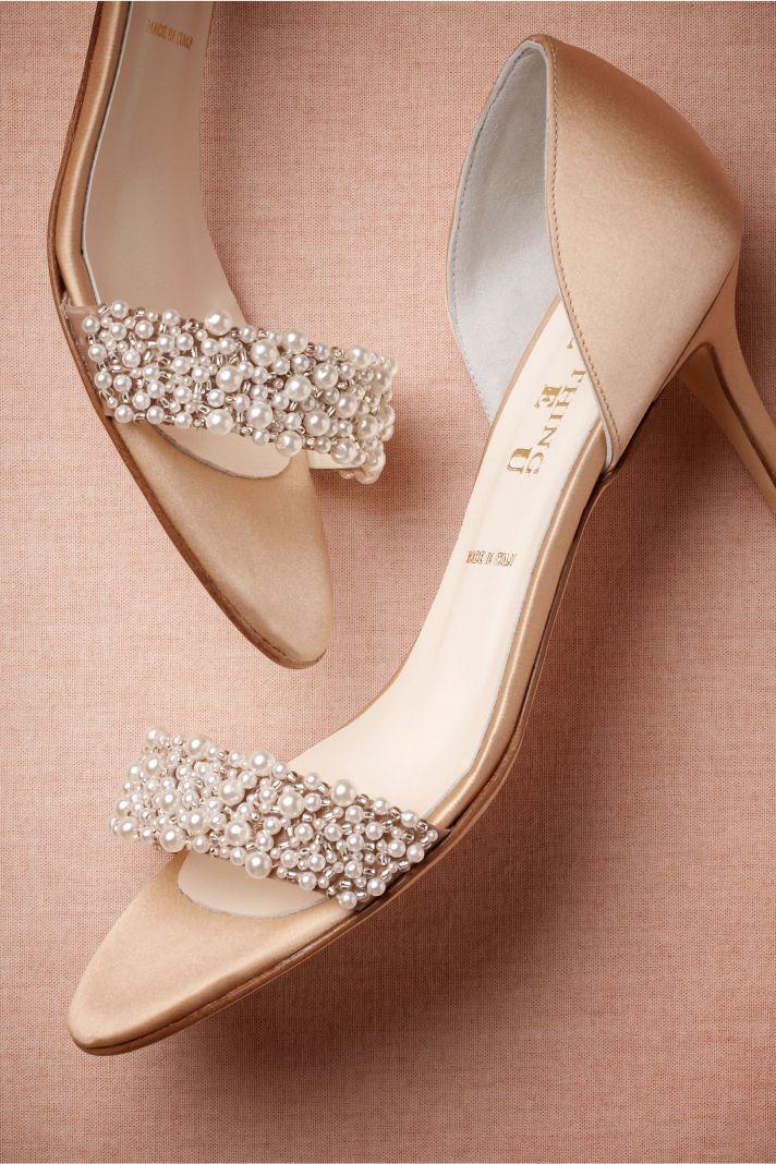 Peach Shoes Wedding