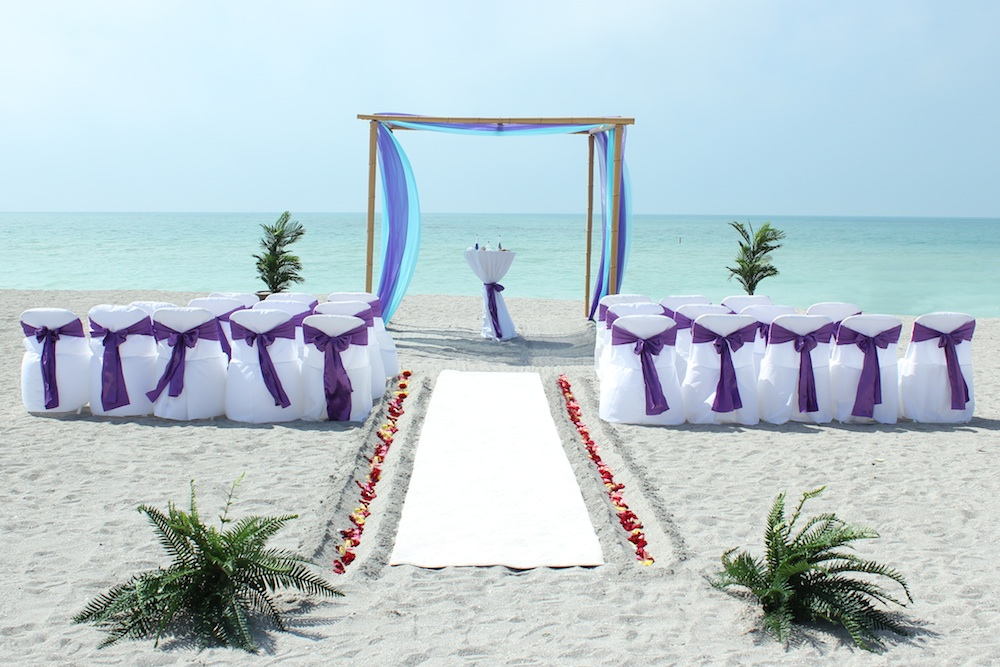 Aqua Blue And Purple Wedding