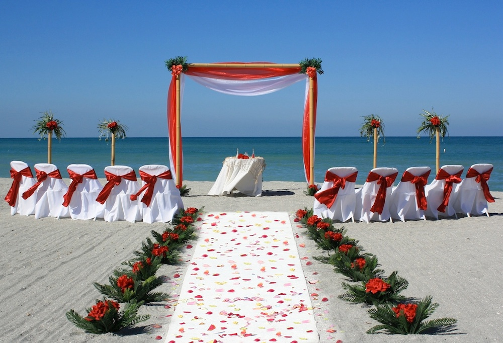 Red And White Wedding Theme