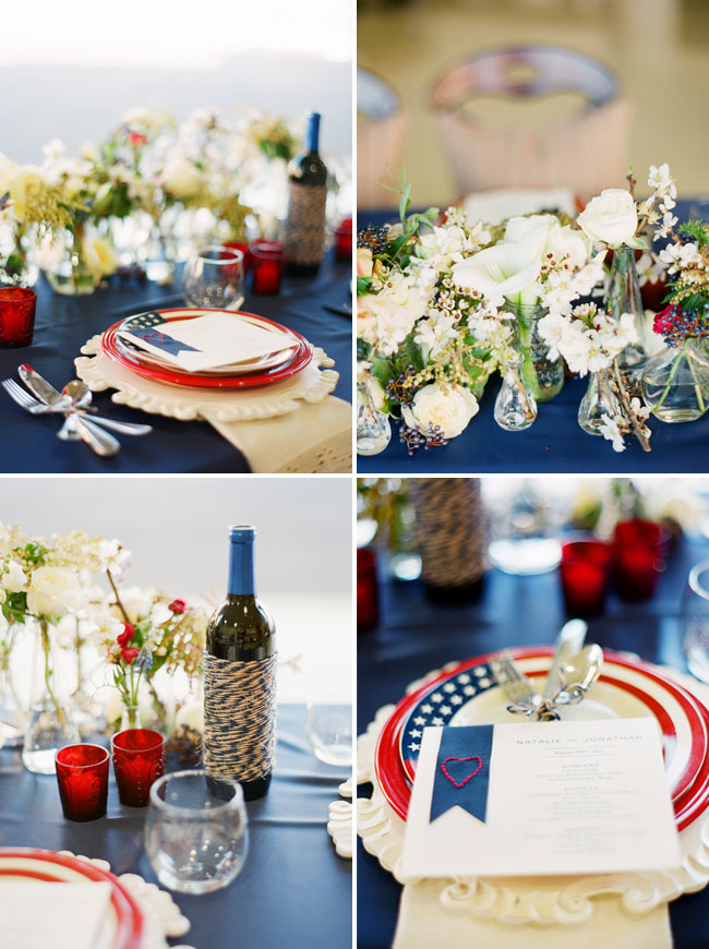 Red And Blue Wedding Decor
