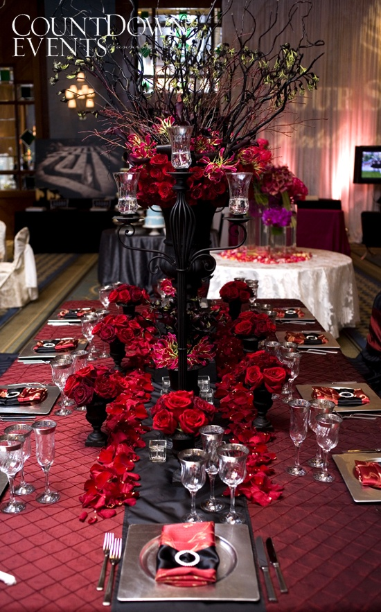 Emejing red and black wedding themes photos styles ideas 2018 red and black wedding theme images wedding decoration ideas junglespirit Gallery