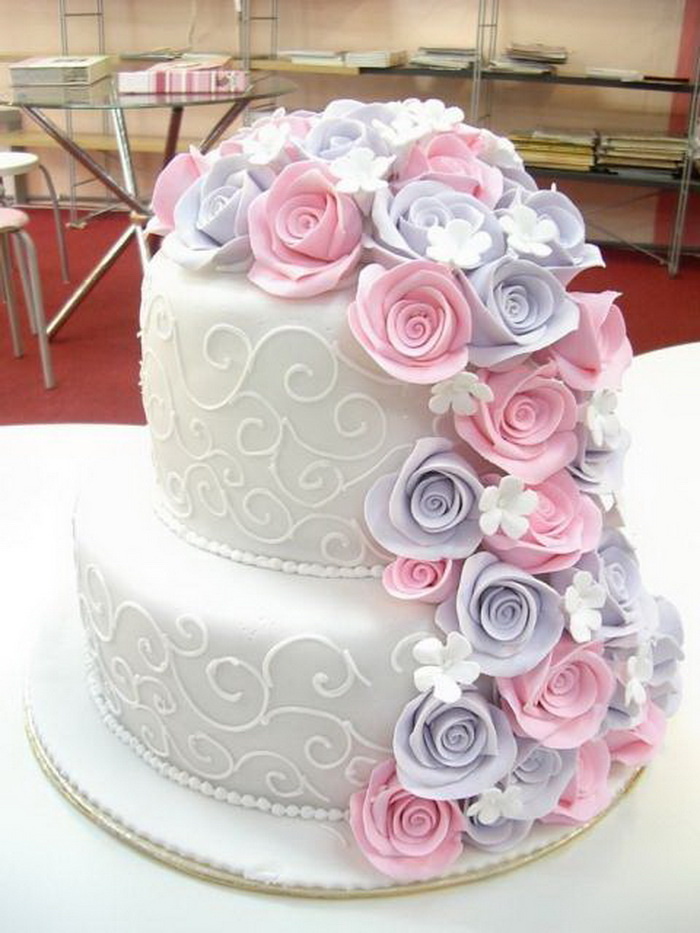 pictures of 2 layer wedding cakes wedding cake two layer 18375
