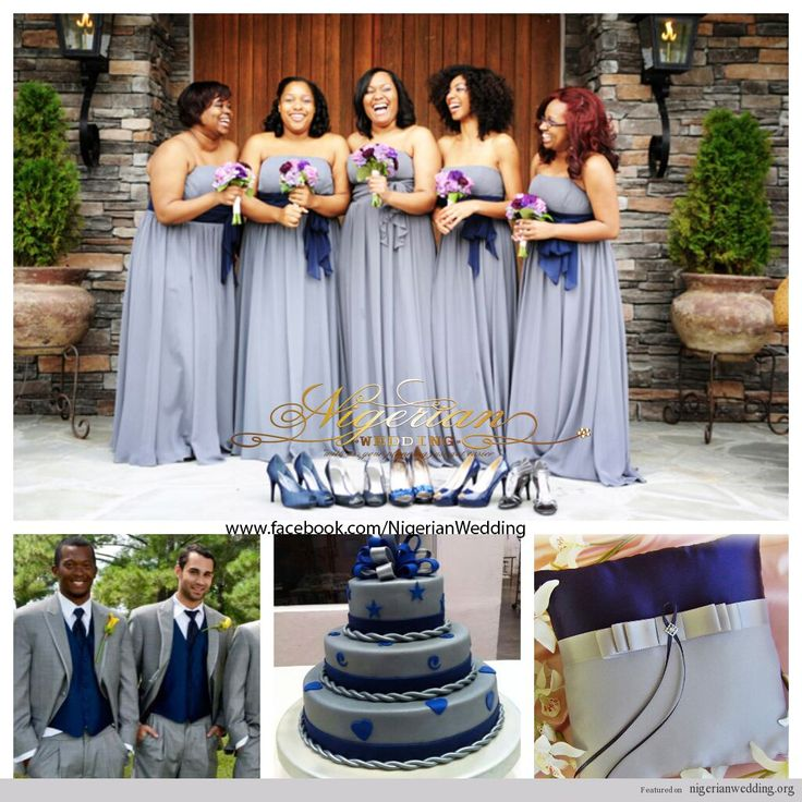 Navy Blue And Gray Wedding