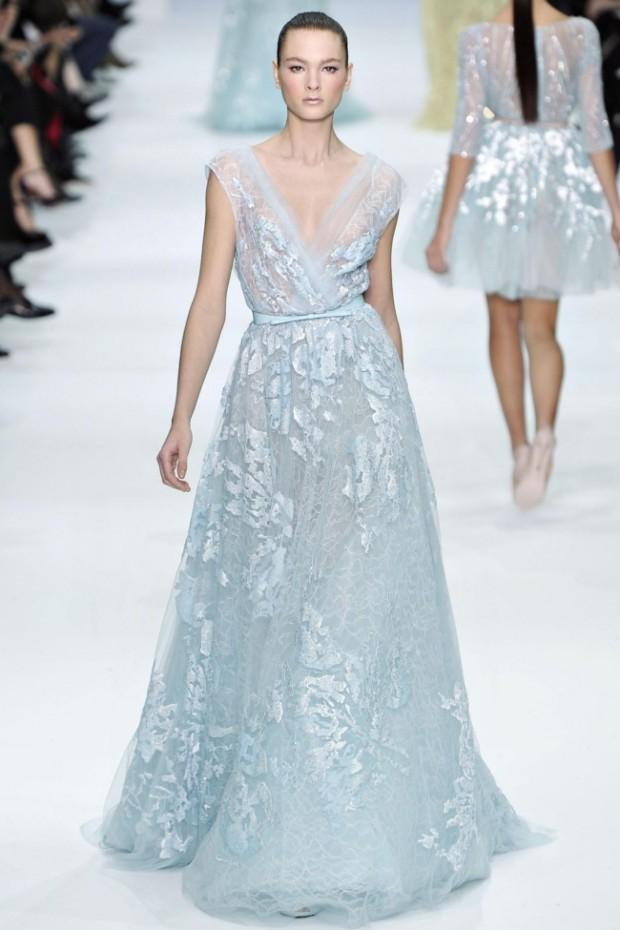 Blue Wedding Dress 2012