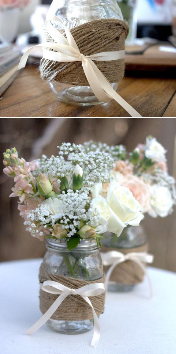 Country Wedding Centerpiece Ideas