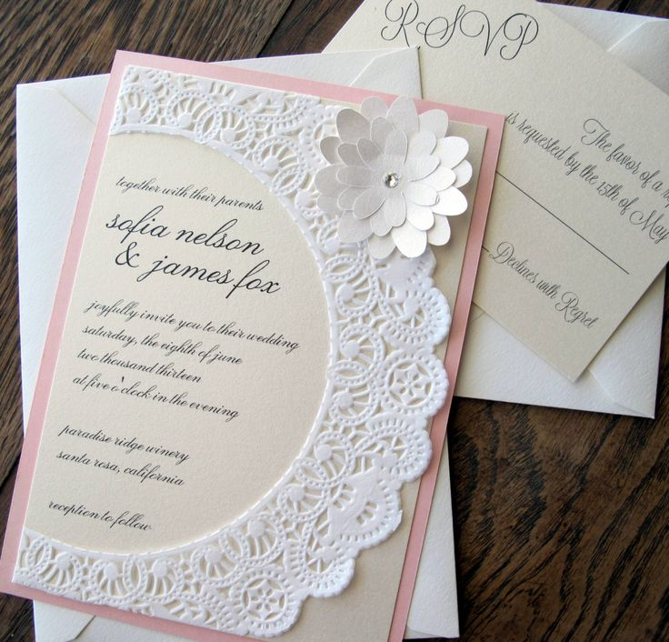 Shabby Chic Wedding Invitation Ideas