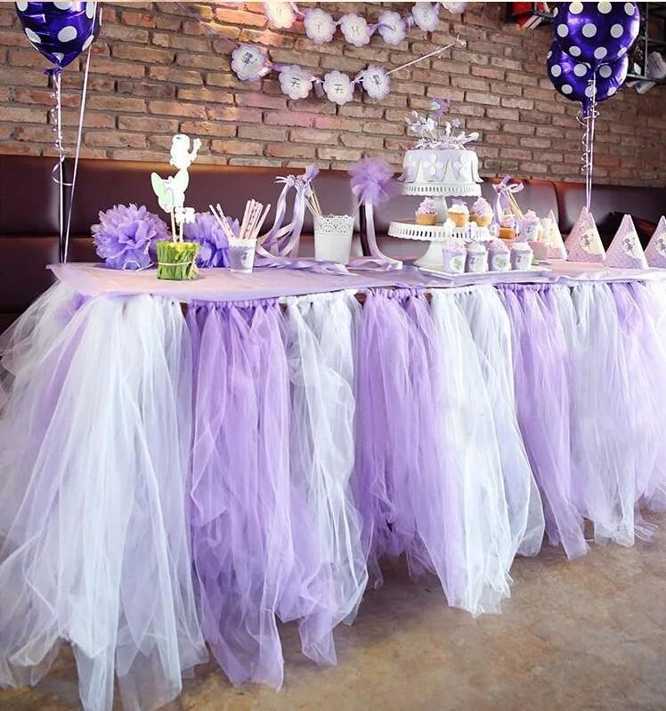 Wedding table and chair decorations 150cm width romantic table cover for wedding party diy organza junglespirit Gallery
