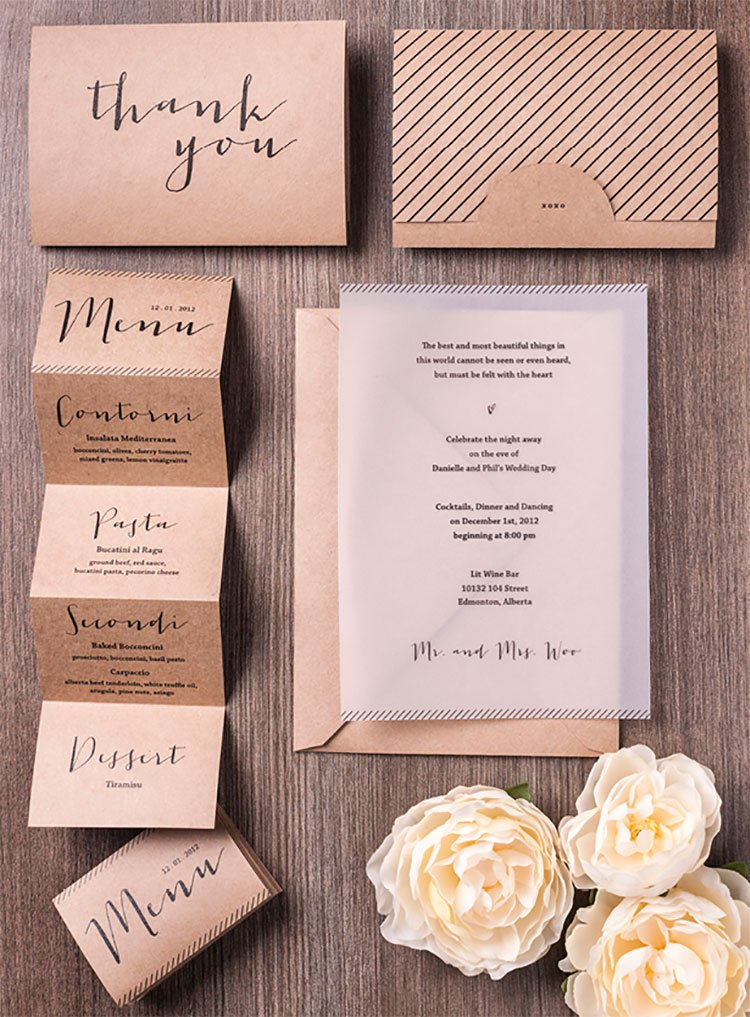 Emejing Wedding Menu Card Ideas Contemporary - Styles & Ideas 2018 ...