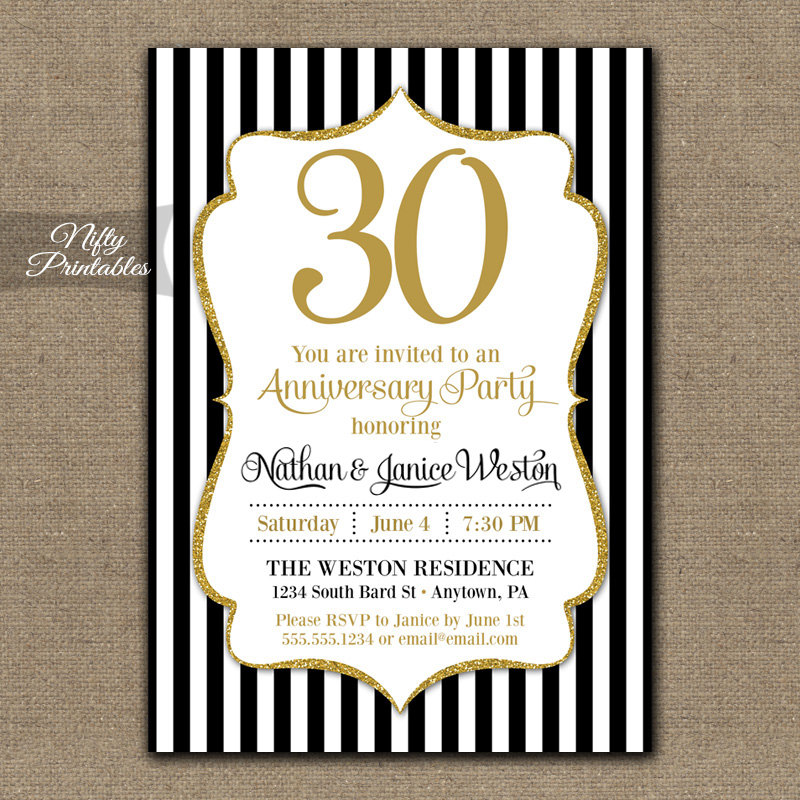 Gift Ideas For 30 Year Wedding Anniversary
