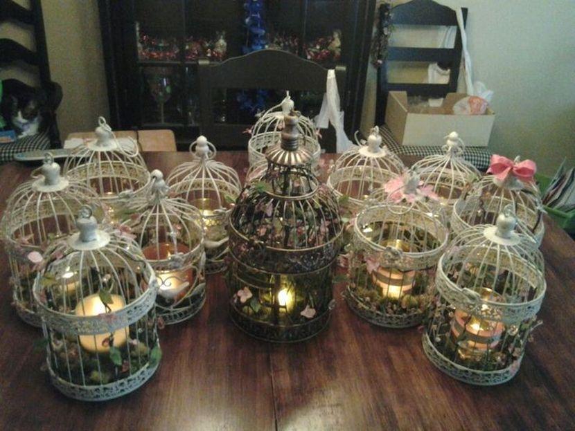 Wedding Table Centerpieces Bird Cages