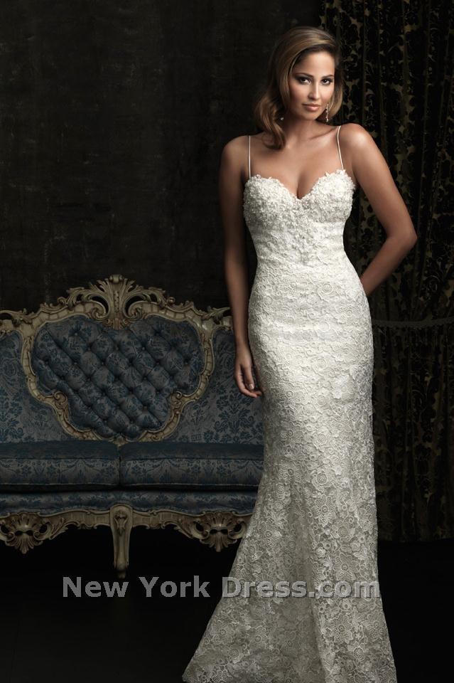 Spaghetti Strap Lace Wedding Dress