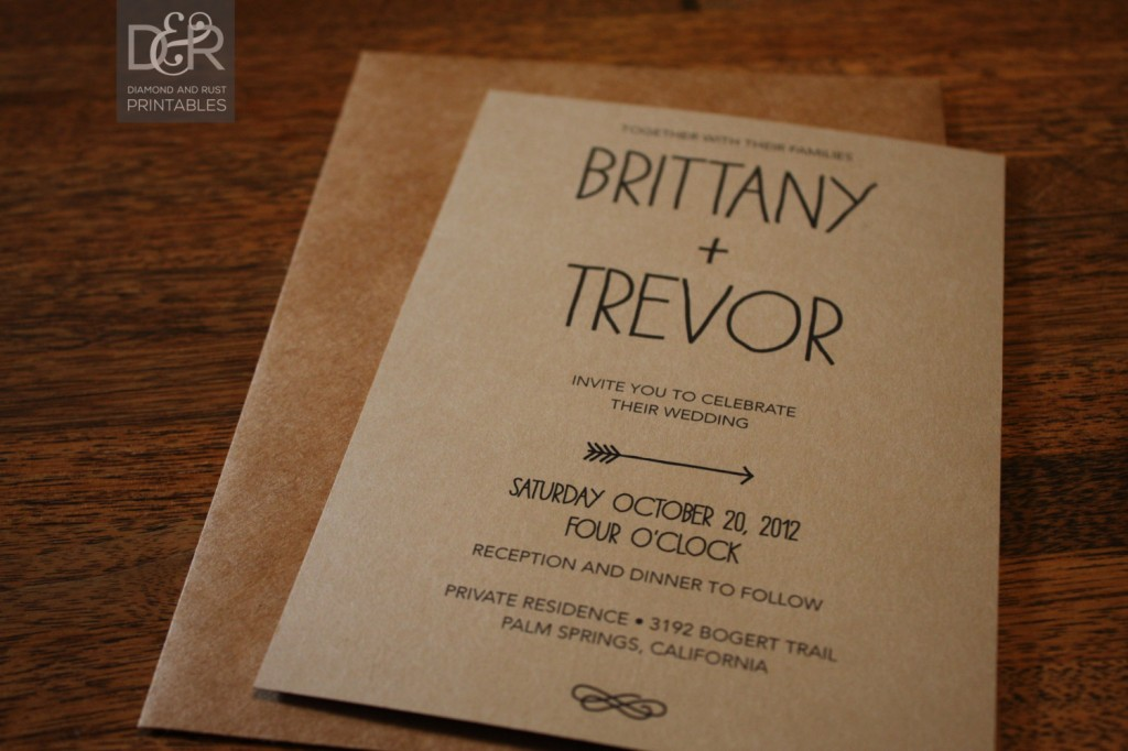 Wedding E Invitation Templates: Rustic Wedding Invitation Templates