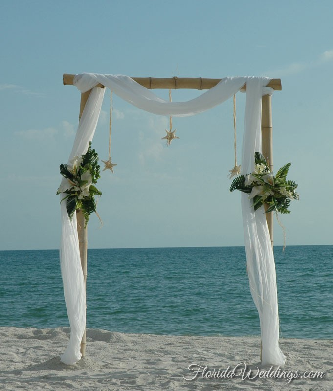 Wedding Arch Decorations For Sale: Bamboo Wedding Arch