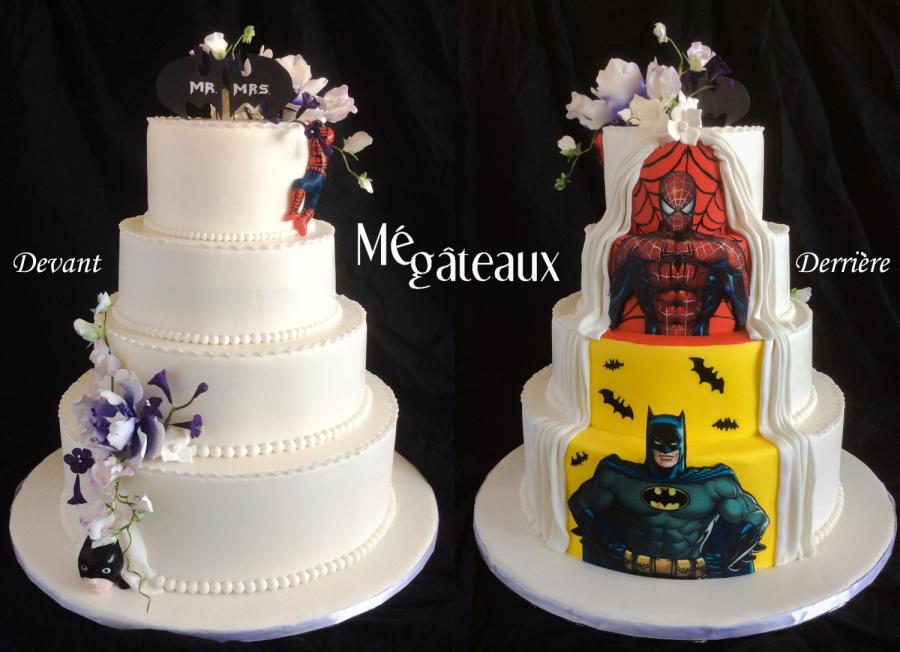 Batman Wedding Cake.Batman Wedding Cakes