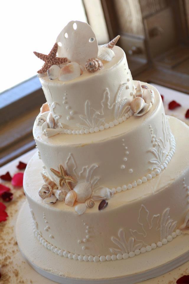beach wedding cake ideas. Black Bedroom Furniture Sets. Home Design Ideas