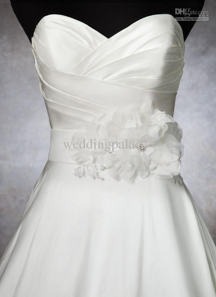 flower sash for wedding dress | Wedding