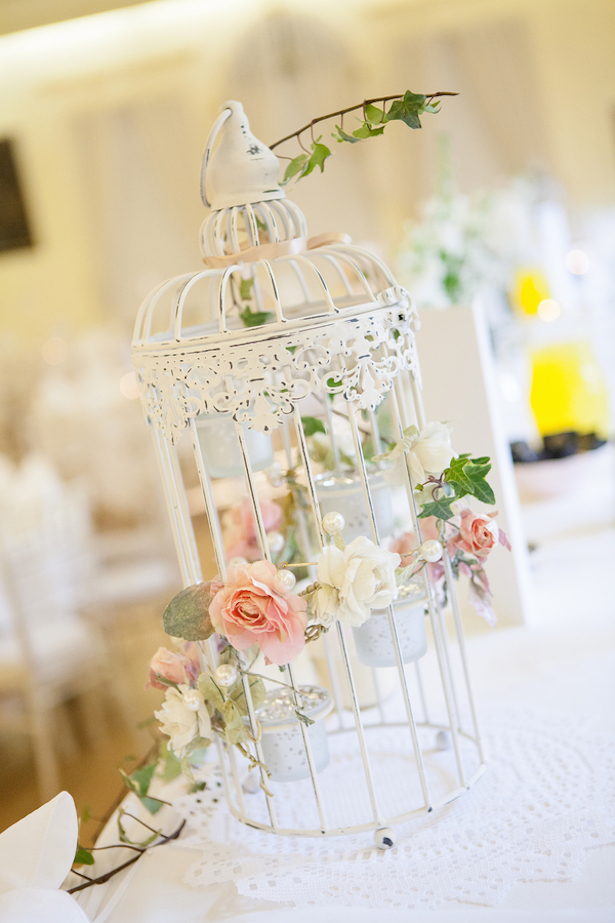 Birdcage Wedding Centerpiece Steven Hanna Photography
