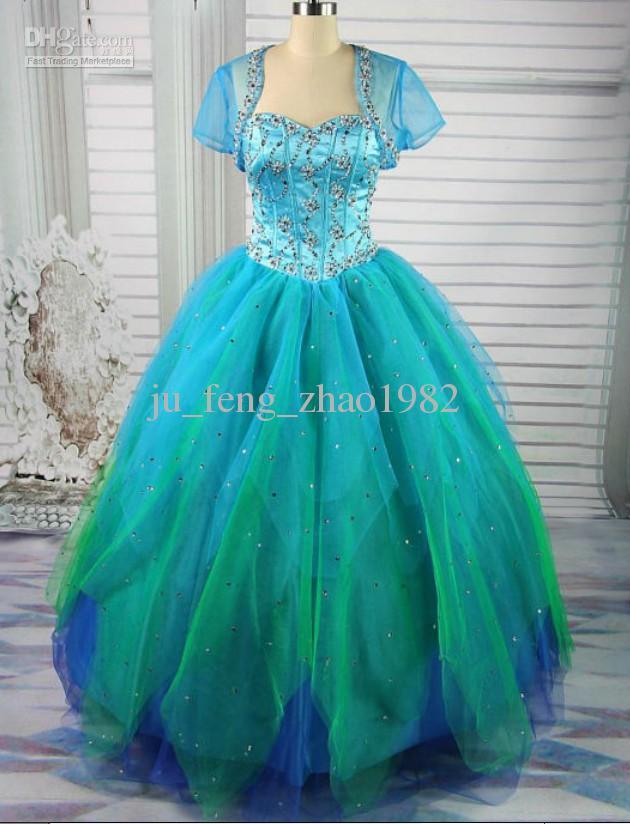 Blue green wedding dress for Blue green wedding dress