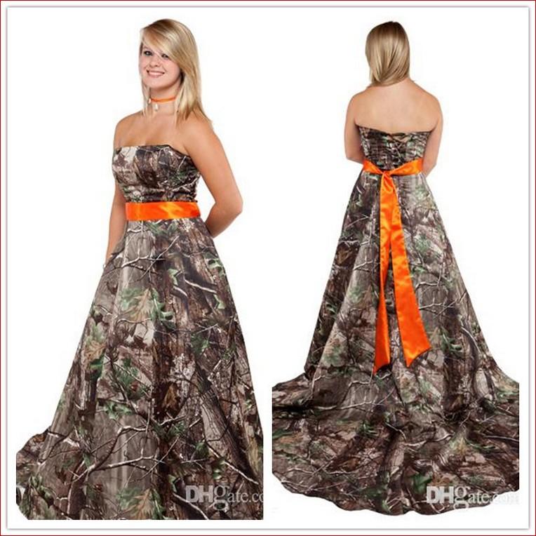 Orange And White Wedding Dresses Wedding