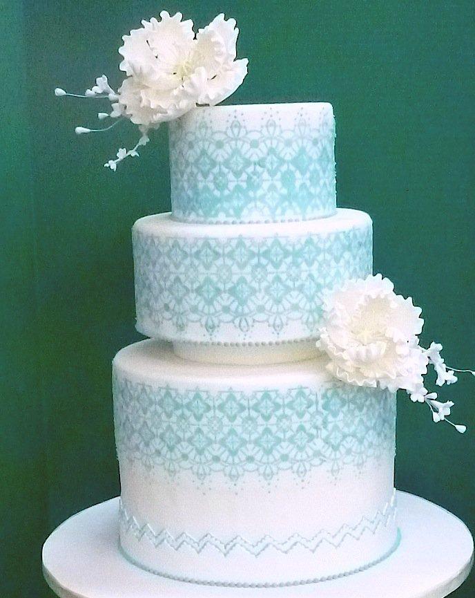 tiffany themed wedding cakes. Black Bedroom Furniture Sets. Home Design Ideas