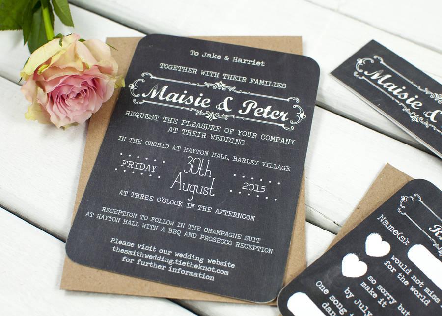 Chalkboard Wedding Invitations Uk | Wedding