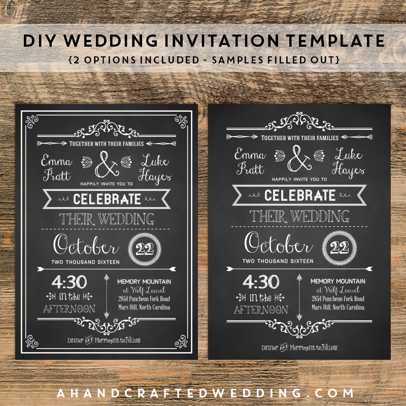Chalkboard Wedding Invitations 012 - Chalkboard Wedding Invitations