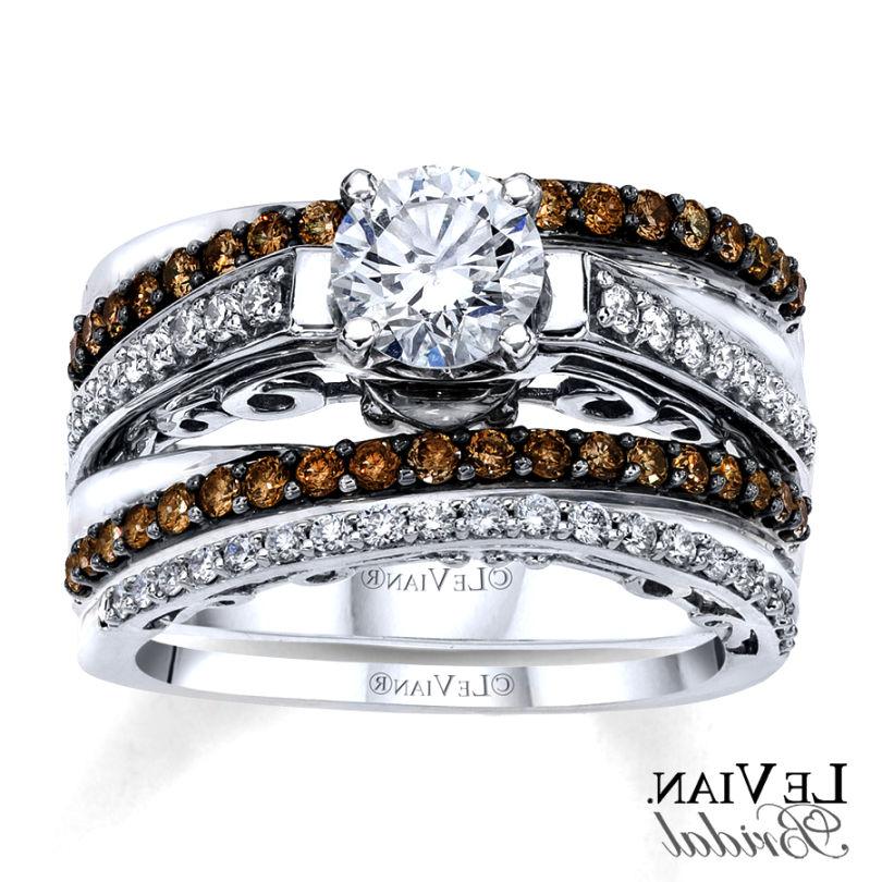 Charmant Chocolate Diamond Wedding Ring Sets