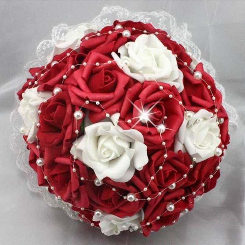 White And Red Wedding Flowers: Red And White Wedding Bouquet