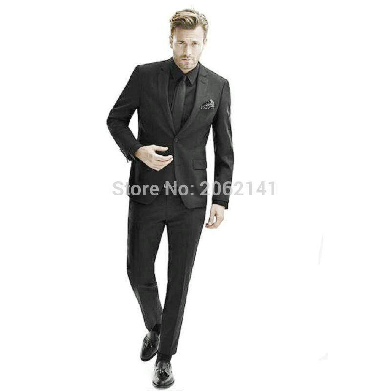 All Black Wedding Suit